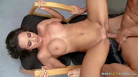 Fucking on porn audition office table from great Ashley Sinclair
