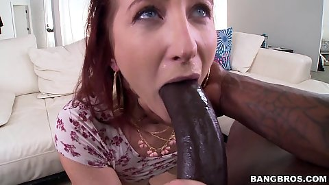 Sophia Locke amazingly tries to fit that massive shaft in her mouth
