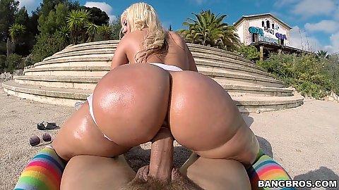 Public outdoor oil sex with europe sex Blondie Fesser