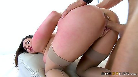 Wild milf in stockings getting laid doggy style Kendra Lust