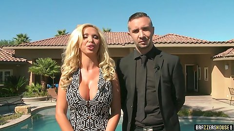 Fully clothed outdoor Nikki Benz in house episode