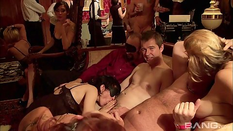 Annie Cruz gets laid in an orgy at the swingers private club