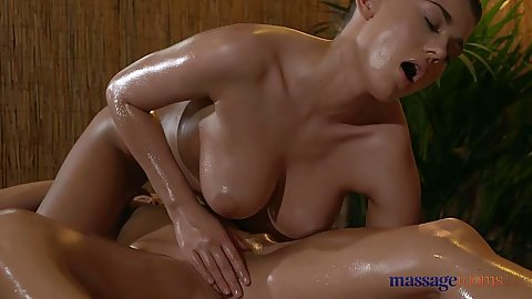 Big boobs oiled lesbian massage with talent from Lucy and Angella