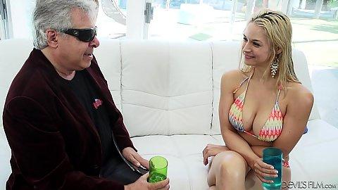 Spicy looking college age chick Sarah Vandella looking great in bikini