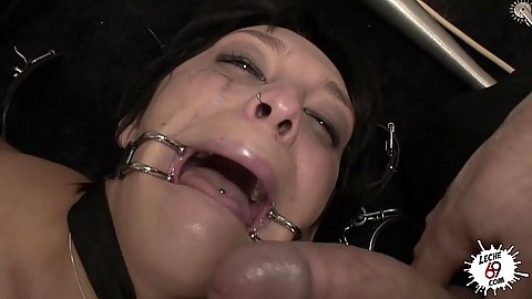 Mouth spread with fetish fucked Soraya Wells in an abandoned factory floor