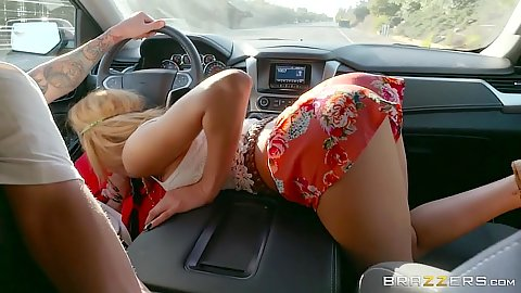 Picked up a cute little skinny latina Chloe Amour as a hitchhiker that sucks