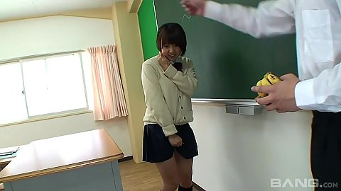 18 year old young asian school student Thihiro Takizawa and teacher