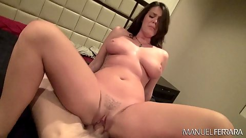Dick sitting busty chick Allyson Tyler