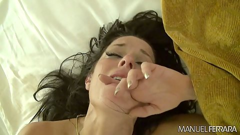 Veronica Avluv rough fucked trying to hold in her moans