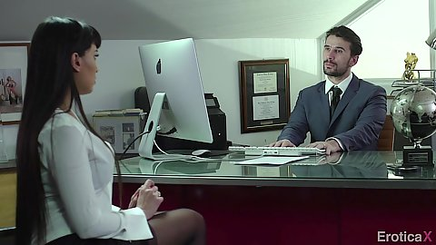 Office milf interview with Mercedes Carrera needing that job