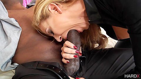Cherie DeVille trying to fit that dick in her mouth