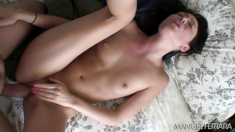 Indulging in vaginal sex a very skinny petite cutie Zoe Voss