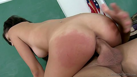 Penis riding with small tits brunette Ariana Marie
