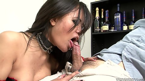 Vicious asian Annie Cruz loves to bit esome balls