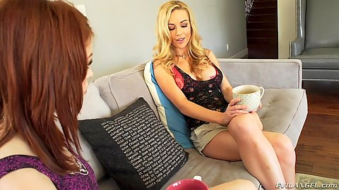 Blonde and brunette Kayden Kross and Bree Daniels start to act dirty