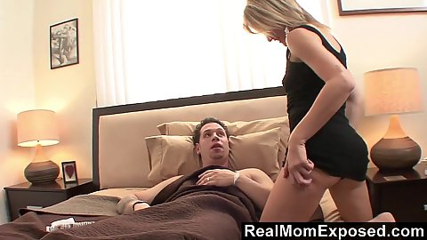 Blonde milf amateur Tanya Tate wants to suck off younger boys dick