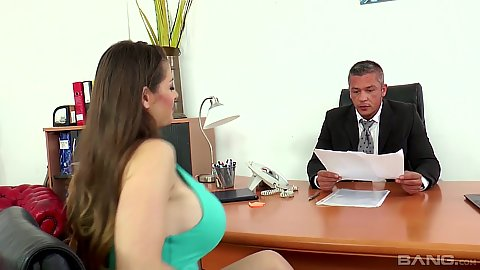 Dirty lawyer office with reasonable milf Cathy Heaven