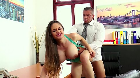 Reasonable lawyer happy to bang this milf Cathy Heaven in his office