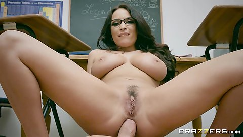 Language class teacher Anissa Kate showing the art of foreign anal skills