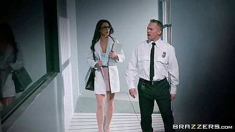 Doctor Monique Alexander visiting jail for her patient