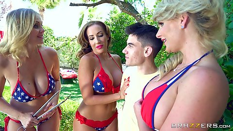 Bikini Independence day party Richelle Ryan and Phoenix Marie and Julia Ann