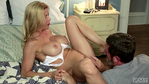 Alexis Fawx being fingered and touched