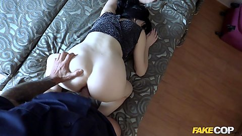 Anal sex from hungry cop and Damaris gets it deep in pov