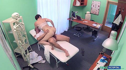 Dick riding Yasmin Scott in doctors office