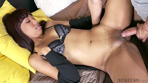 Pretty black spread legs frontal vaginal screw Sade Rose