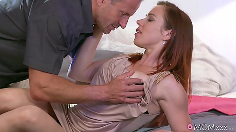 Redhead milf Bibi Fox in couple sex undressing
