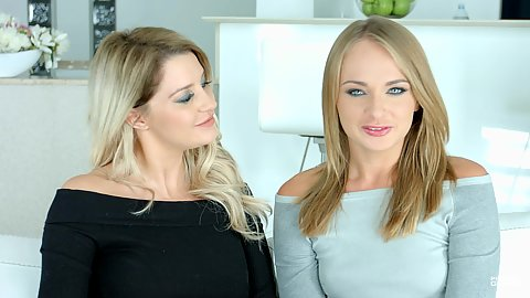 Sienna Day and Ivana Sugar behind the scenes in clothes chatting