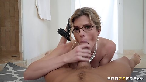 Impulsive stepmom milf Cory Chase giving pov oral and cowgirl fuck