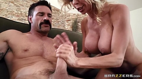 Alexis Fawx having sex with fruit salesman and rides his banana