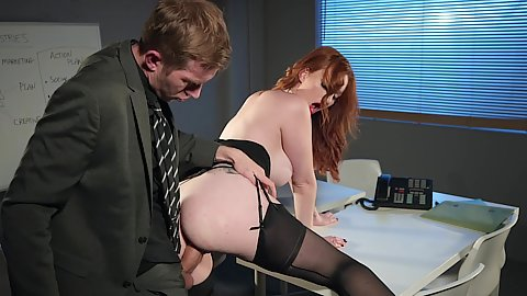 Standing fuck bubble butt half dressed corporate office pumping with Zara DuRose