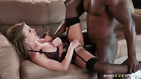 Spread her legs for black cock white girl intercourse Britney Amber on slutty valentine