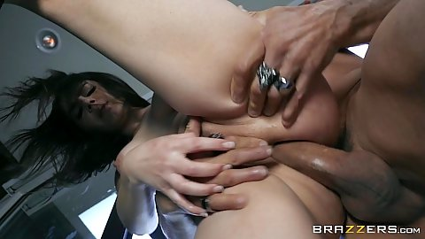 Anal pounding of standing girl with great body Valentina Nappi