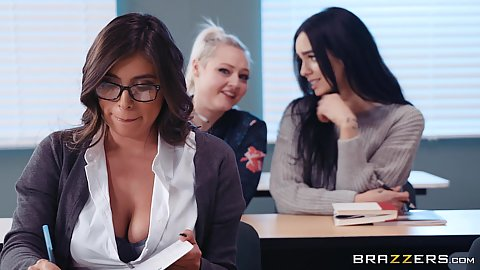 Ella Knox is in class but thinking about her professor