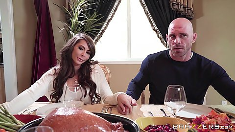 Frisky diner party and oral sex in pov with Madison Ivy