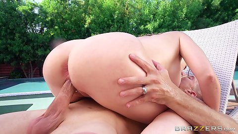 Honeymoon sex with newly wed wife Kagney Linn Karter and her husband and some guy they met in resot
