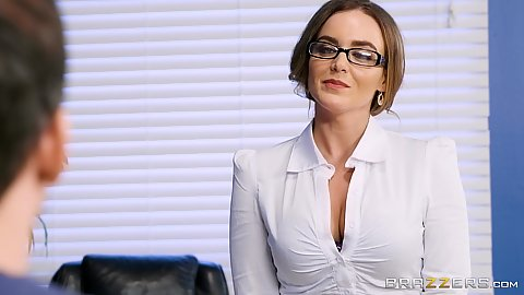 Glasses fully clothed milf in her teachers office Natasha Nice
