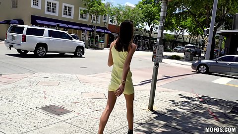 Charity Crawford was waslking the street when we decided to offer her cash for sexual acts in public