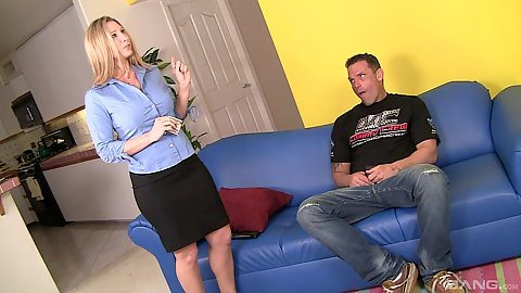 Housewife hooker milf Devon Lee fully clothed ass touched and fingered