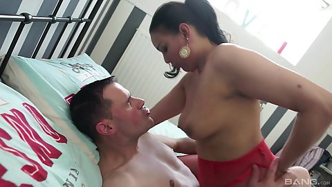 Ana Clara is about to rent a room but needs to have that moist milf pussy worked first