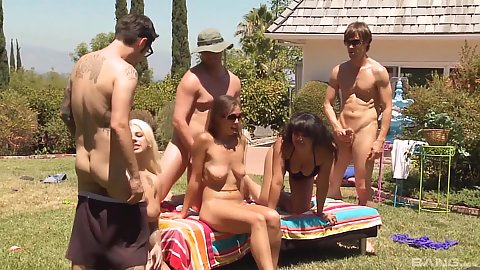 Sex games swingers party orgy sex with Annie Cruz in great outdoors