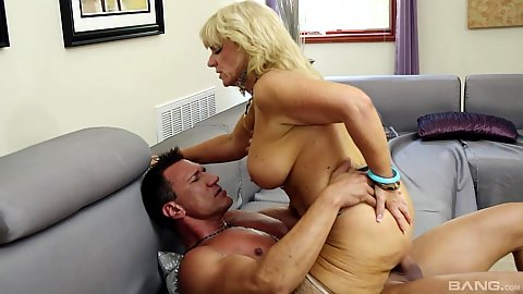 Cowgirl riding a penis from mature blonde tramp stamped whore Zena Rey