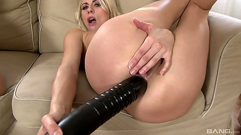 Super large dildo fucking self in the ass in preparation for an orgy Luci Angel and Brittany Bardot and Melanie Crush and Ani Blackfox