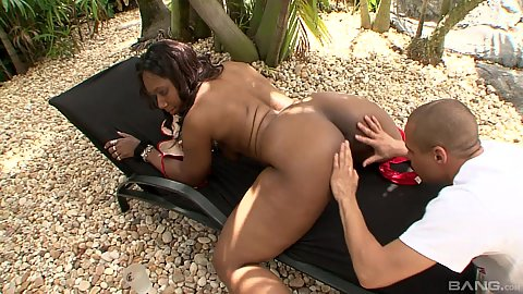 Fingering and dick sucking from outie pussy ebony mother Anjel Devine