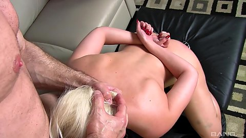 Jenna Ivory pov dick sucking with head pushed down and oil ass pussy sex from the back