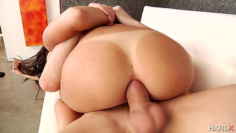 Anal cowgirl tanline butt Ariana Marie loves to deep throat in ass to mouth