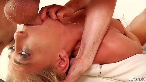 Face fucking in reverse blowjob sloppy deep throating blowbang with Carter Cruise